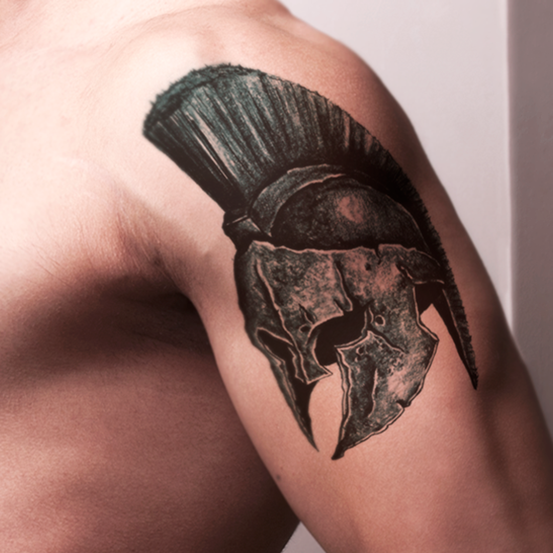 Tattoo Design | Roman Helmet